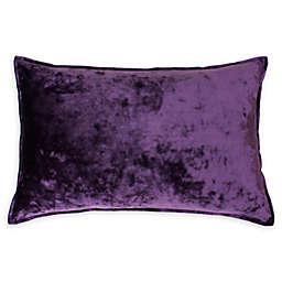 Thro Ibenz Ice Velvet Oblong Throw Pillow in Purple