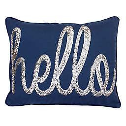 Thro Hello Sequin Oblong Throw Pillow
