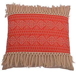 Thro Harriet Embroidered Square Throw Pillow