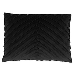 James Pleated Velvet Throw Pillow