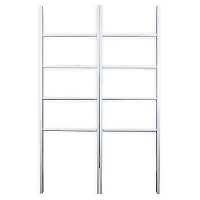 Casual Home Decorative Twin Ladders in White