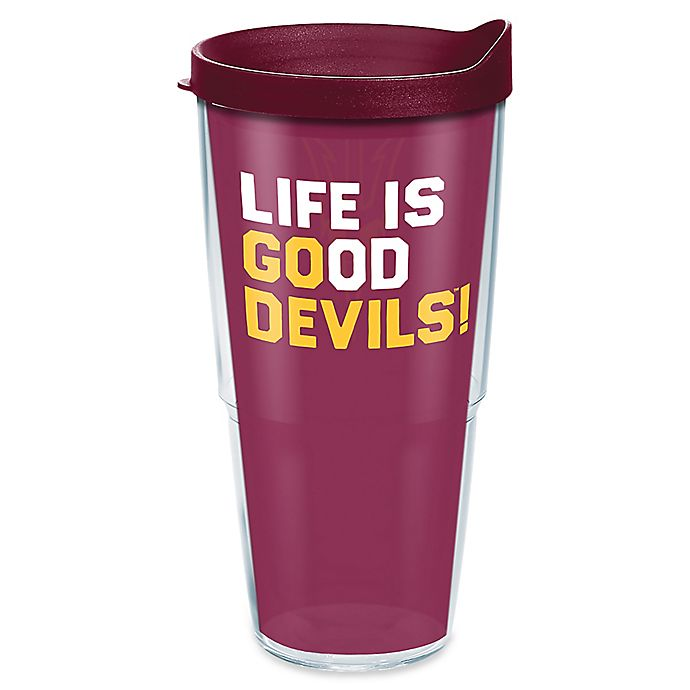 Alternate image 1 for Tervis® Life Is Good® Arizona State University Go Team 24 oz. Wrap Tumbler with Lid