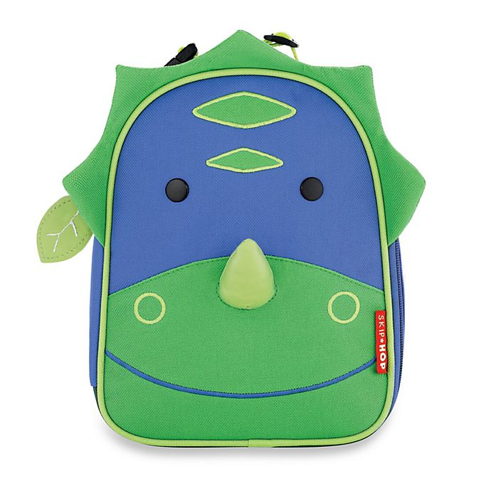 Alternate image 1 for SKIP*HOP® Zoo Lunchies Dinosaur Insulated Lunch Bag