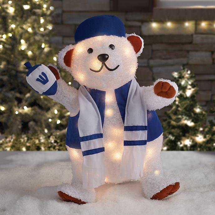 Alternate image 1 for 24-Inch Pre-Lit Hanukkah Bear