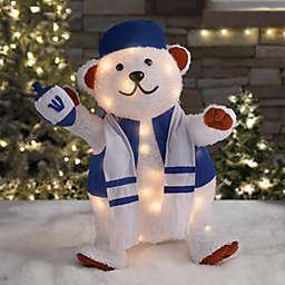 24-Inch Pre-Lit Hanukkah Bear