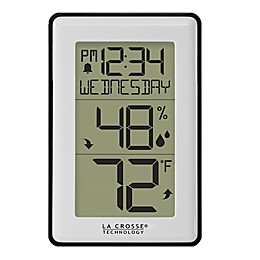 La Crosse Technology® 4.29-Inch Mini Wall Alarm Clock and Weather Station