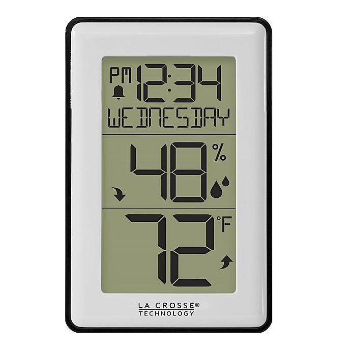 Alternate image 1 for La Crosse Technology® 4.29-Inch Mini Wall Alarm Clock and Weather Station