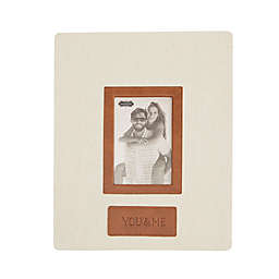 "Mud Pie® 11-Inch x 9-Inch Linen ""YOU & ME"" Frame"