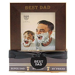 Eliza L© Best Dad 4-Inch x 6-Inch Photo Frame in Bronze (Set of Two)