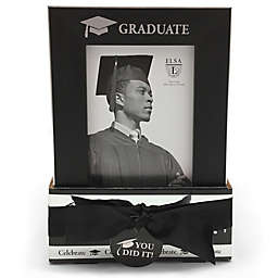 Elsa L Graduate 4-Inch x 6-Inch Frame in Black (Set of 2)