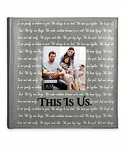 """Malden® Álbum para 160 fotografías con frase """"This is us"""" en gris"""