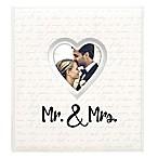 """Malden """"Mr. & Mrs.  400-Photo Heart Wedding Photo Album in Silver"""