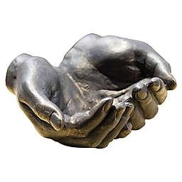 Global Views Iron Hand Bowl in Bronze