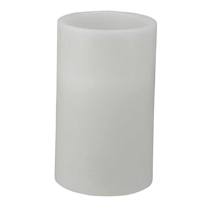 Alternate image 1 for Northlight 10-Inch Flameless LED 3-Wick Pillar Candle in White