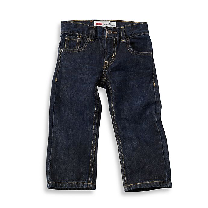 Alternate image 1 for Levi's® 526 Elastic Waistband Loose Straight Fit Jean in Midnight