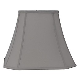 13 Inch Fabric Bell Lamp Shade in Grey