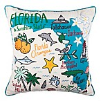 Florida Regional Square Throw Pillow