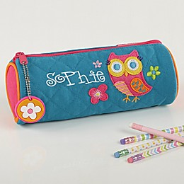 Lovable Owl Personalized Pencil Case by Stephen Joseph
