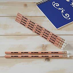 Natural Cedar Wood Personalized Pencil Set of 12