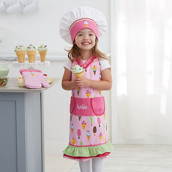Alternate image 1 for Ice Cream Embroidered Apron 3 Piece Set
