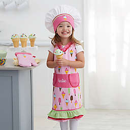 Ice Cream Embroidered Apron 3 Piece Set