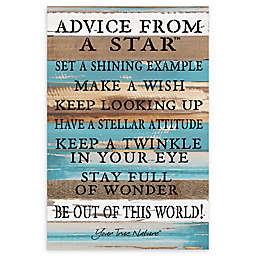 "Sweet Bird & Co. 12-Inch x 18-Inch ""Advice From A Star"" Wood Wall Art"