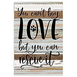 "Sweet Bird & Co. 12-Inch x 18-Inch ""Can't Buy Love"" Dog Wood Wall Art"