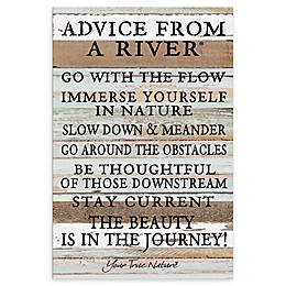 """Sweet Bird & Co. 12-Inch x 18-Inch """"Advice From A River"""" Wood Wall Art"""