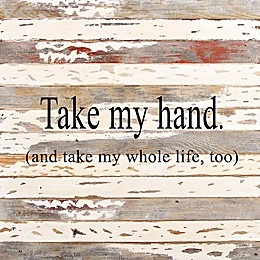 Sweet Bird & Co. Take My Hand 30-Inch Reclaimed Wood Wall Art