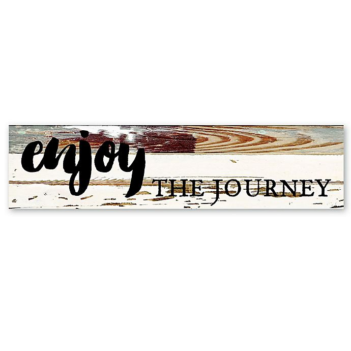 Alternate image 1 for Sweet Bird & Co. Enjoy the Journey Reclaimed Wood Wall Art