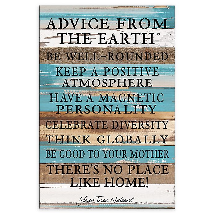 Alternate image 1 for Sweet Bird & Co. Advice From The Earth Reclaimed Wood Wall Art