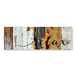 Sweet Bird & Co. Relax 6-Inch x 18-Inch Wood Wall Art