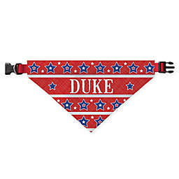 Personalized Planet Stars and Stripes Dog Bandana in Red
