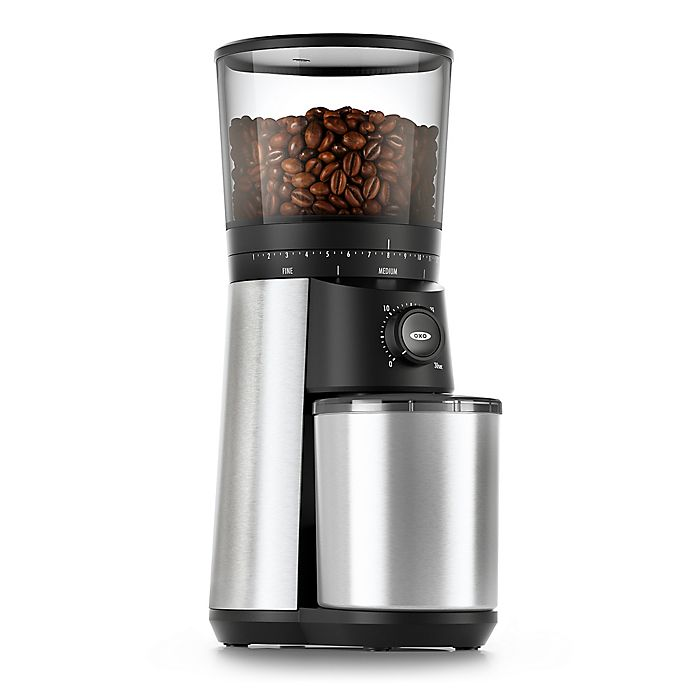 Alternate image 1 for OXO® Conical Burr Coffee Grinder in Stainless Steel