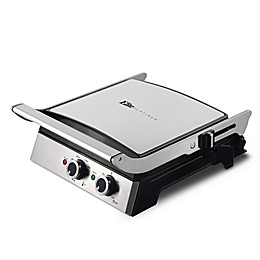 Elite Platinum Electric Grill and Griddle in Stainless Steel