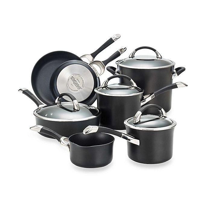 Alternate image 1 for Circulon® Symmetry™ Black 11-Piece Cookware Set