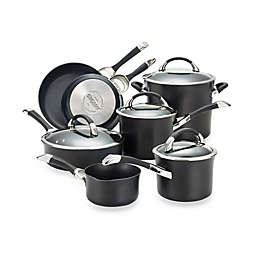 Circulon® Symmetry™ Hard Anodized Nonstick 11-Piece Cookware Set in Black