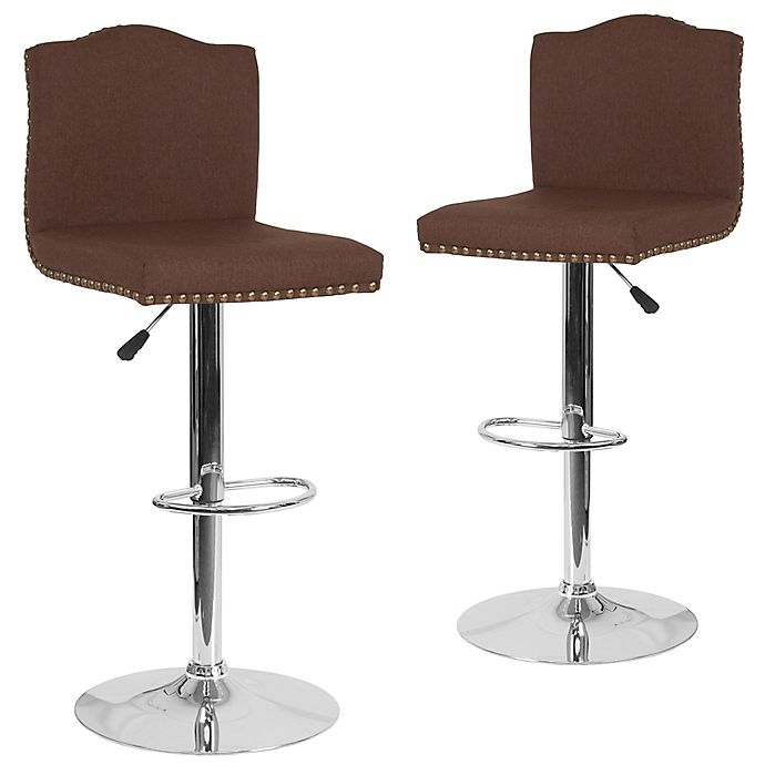Alternate image 1 for Flash Furniture Bellagio Swivel Bar Stools in Brown (Set of 2)