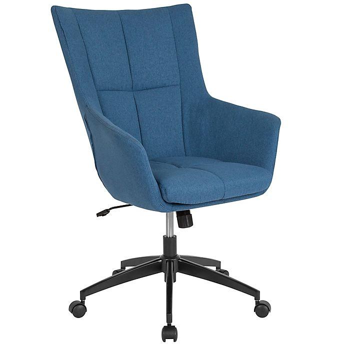 Astonishing Flash Furniture Swivel Barcelona Chair In Blue Bed Bath Creativecarmelina Interior Chair Design Creativecarmelinacom