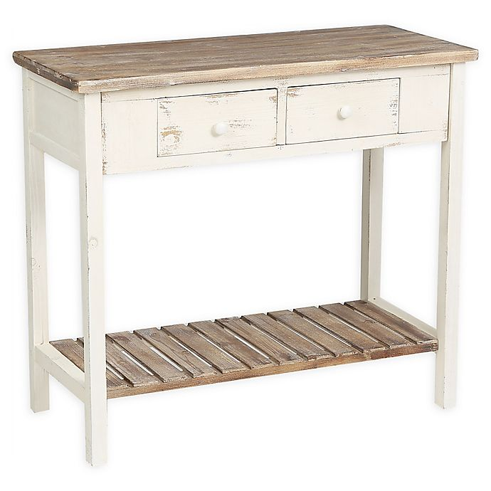 Madison Park 2-Drawer Vintage Console Table In Off White | Bed Bath & Beyond