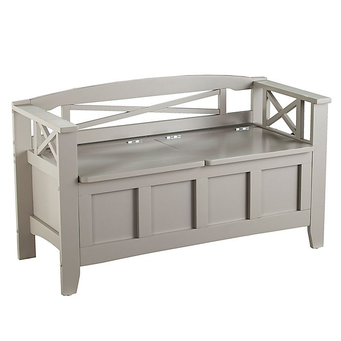 Awesome Southern Enterprisesc Cutler Gray Entryway Storage Bench Theyellowbook Wood Chair Design Ideas Theyellowbookinfo