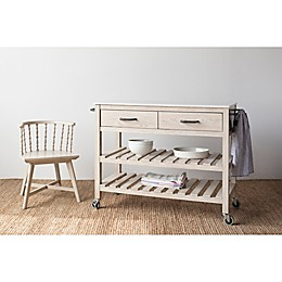 Bee & Willow™ Home Wood Stone Top Kitchen Cart in Light Natural