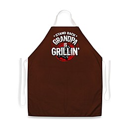Stand Back Grandpa Is Grill in ' Apron
