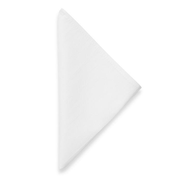 Alternate image 1 for Dinner Napkins in White (Set of 12)