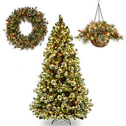 National Tree Company Wintry Pine Pre-Lit Christmas Holiday Décor with Clear Lights