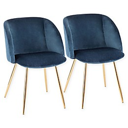 Lumisource Velvet Upholstered Luna Dining Chairs (Set of 2)