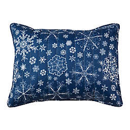 Snowflake Quilted Standard Pillow Sham in Blue