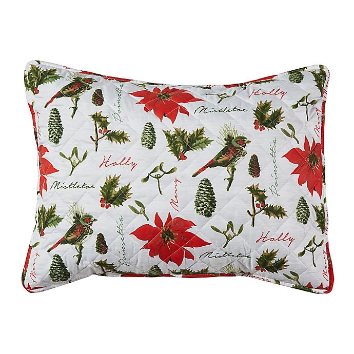 Alternate image 1 for Mistletoe Botanical King Pillow Sham