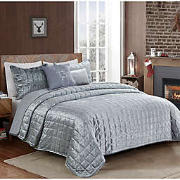 Donner Velvet Reversible 5-Piece Quilt Set