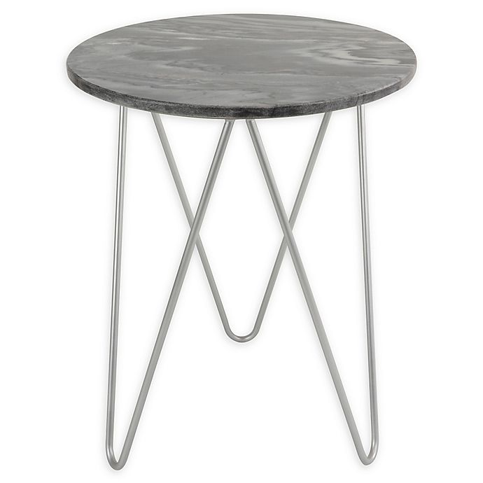 Alternate image 1 for O&O by Olivia & Oliver Round Marble/Steel Side Table